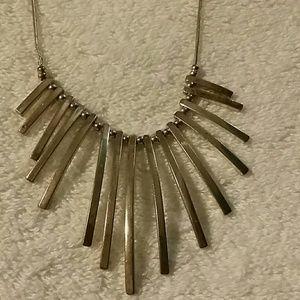 "Jewelry - Silver ""sun burst"" necklace."